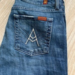 Women's 7 For all Man Kind Jean A pocket